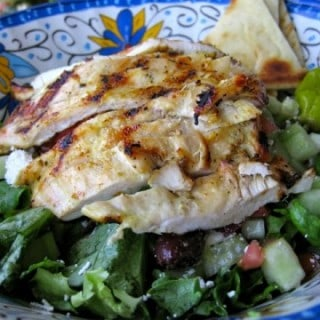 Skinny Grilled Chicken Greek Salad Recipe – 6 Weight Watchers SmartPoints
