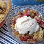 Skinny Strawberry Almond Crumble