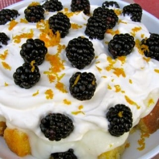 Lighter Blackberry Orange Trifle