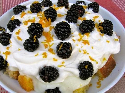 Lighter Blackberry Orange Trifle
