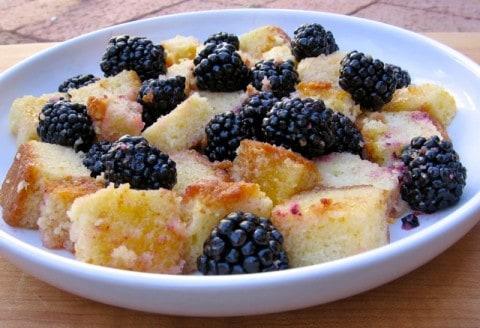 Making Lighter Blackberry Orange Trifle