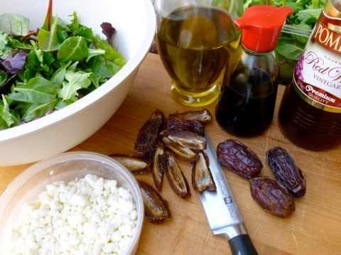 Mixed Green Salad with Goat Cheese Ingredients