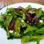 Mixed Green Salad with Goat Cheese and Dates