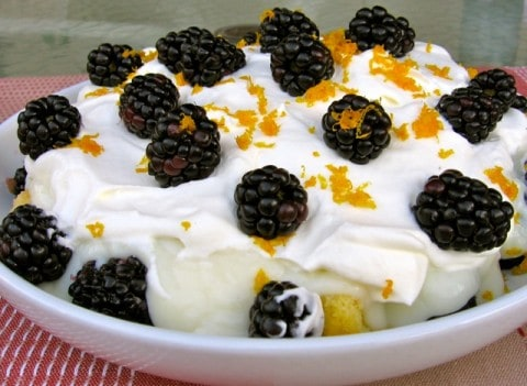Nigella Lawson Blackberry Orange Trifle