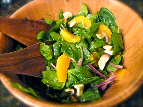 Orange Spinach Salad With Weight Watchers Points Plus