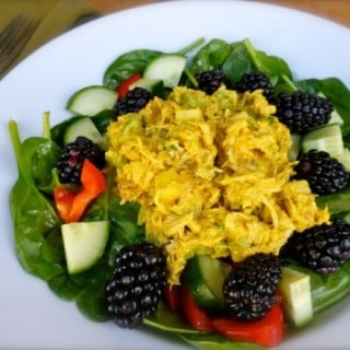 Skinny Curried Chicken Salad – 2 WW Freestyle SmartPoints