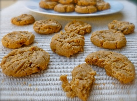 Easy 4-Ingredient Peanut Butter Cookies