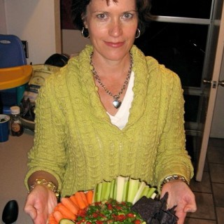Martha with Veggie Tray