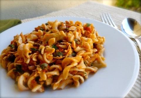 Mediterranean Pasta with Tuna & Tomatoes