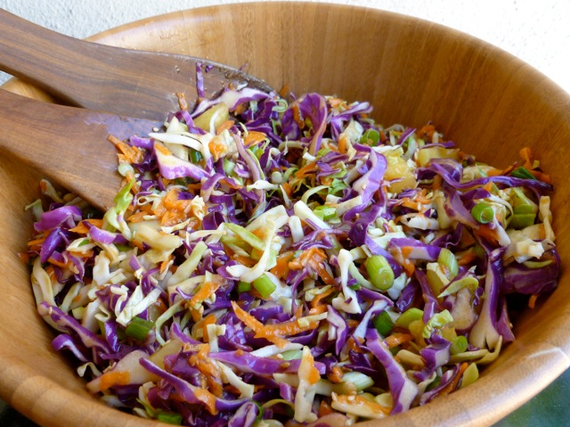Quick & Easy Low Fat Asian Slaw with Pineapple