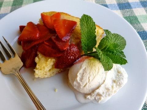 Skinny Vanilla Buttermilk Cake