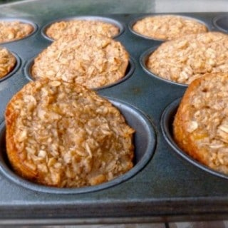 "Individual ""Banana Bread"" Baked Oatmeal Muffin Cups"