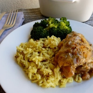 Slow Cooker Chicken Thighs with Beer & Herbes de Provence