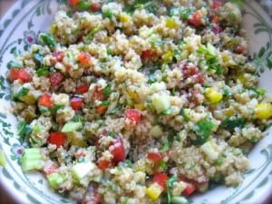 Southwest Stoplight Quinoa Salad