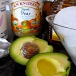 Avocado Pear Smoothie Ingredients