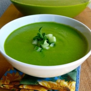 Chilled Asparagus Soup with Spinach and Avocado