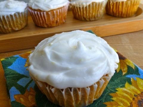 Enlightened Carrot Cupcakes