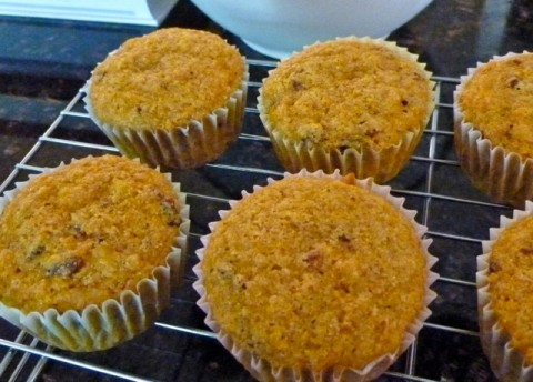 Lighter Healthier Carrot Cupcakes Ready to Frost