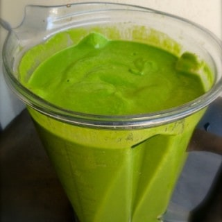 Making Chilled Asparagus Soup with Spinach and Avocado in the Vitamix