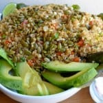 Lightened Up Quinoa & Corn Salad with toasted Pumpkin Seeds