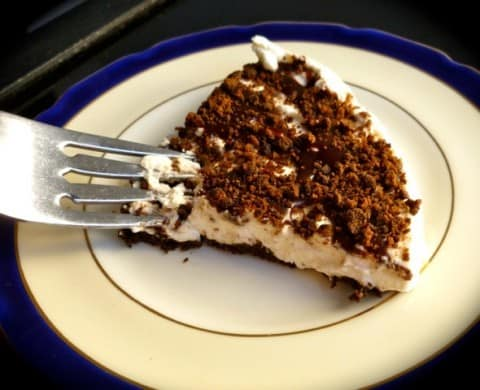 Chocolate Mint Whipped Cream Pie