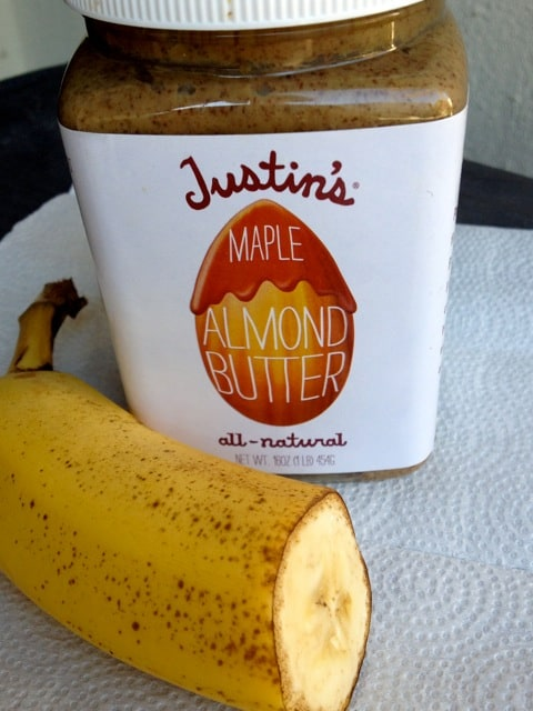 1/2 Banana and Almond Butter