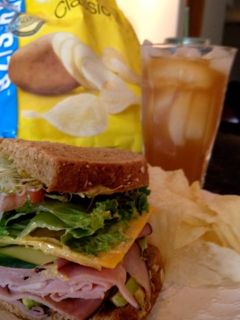 1/2 Ham & Cheese Sandwich with Chips and Iced Tea
