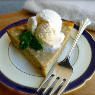 Banana Bread Pie & Ice Cream