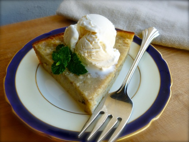 Banana Bread Pie & Ice Cream