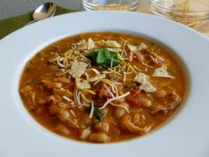 Chicken Salsa White Bean Soup