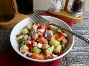 Skinny Chopped Greek Salad