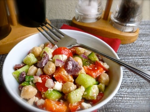 Healthy Lunch Ideas for Weight Loss: Chopped Greek Salad