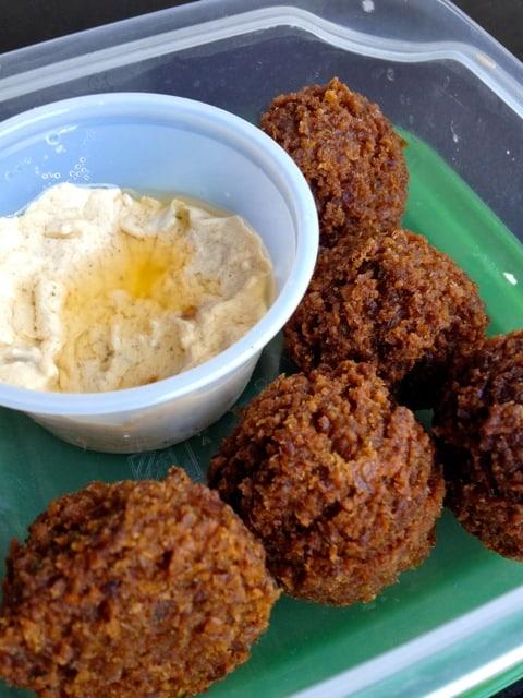 falafel with tahini