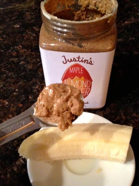 Half Banana and Almond Butter