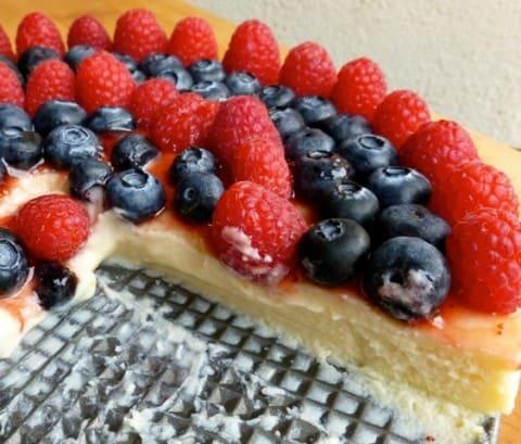 Light Ricotta Cheesecake with Berries