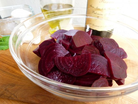 Marinated Roasted Beet Salad Ingredients