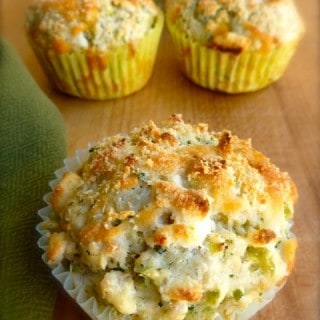 Skinny Broccoli Cheese Muffins