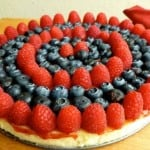 Light Creamy Ricotta Cheesecake with Fresh Berries