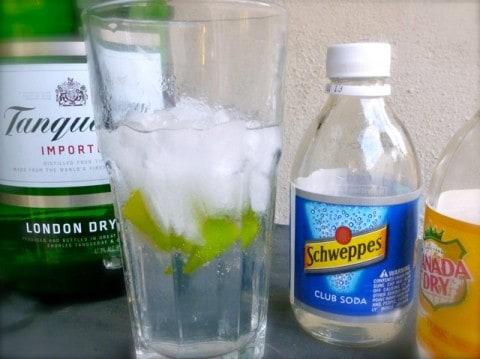 Skinny Gin & Soda with Tonic Splash