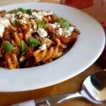 Tomato Chicken Feta Pasta