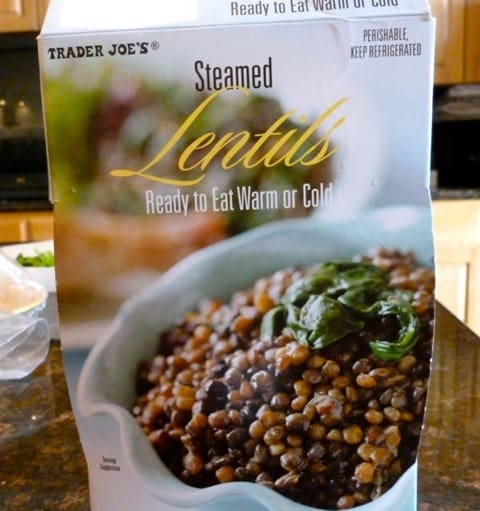 Trader Joe's Ready to Eat Steamed Lentils