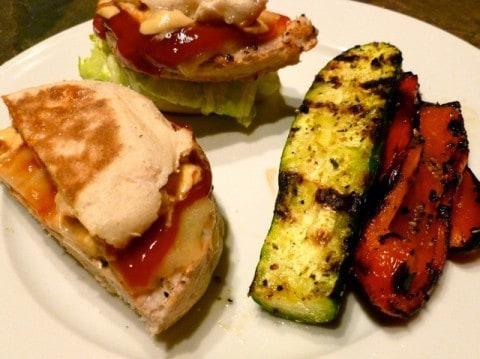 Grilled Turkey Burgers & Veggies