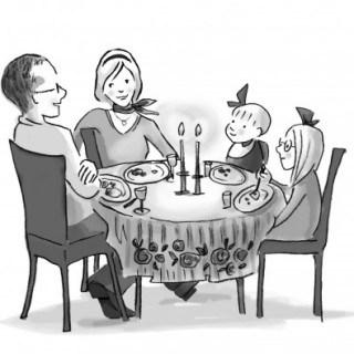 French Kids Eat Everything Illustration