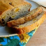 Low Fat Banana Bread with Dates & Apricots