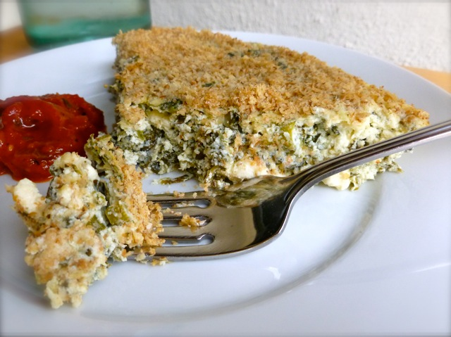 Spinach & Feta Crustless Quiche
