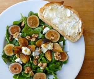 Warm Fig & Goat Cheese Salad