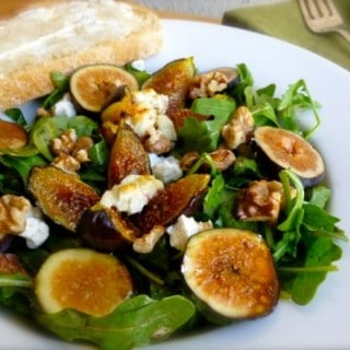 Warm Goat Cheese & Fig Salad
