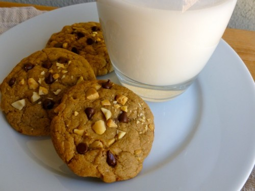 Weight Watchers Chocolate Chip Cookies with Salted Peanuts & Milk
