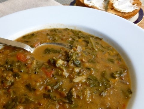 Cooking Light Lentil Soup With Chard | Mouthtoears.com