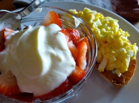 Strawberries with Enlightened Crème Fraîche